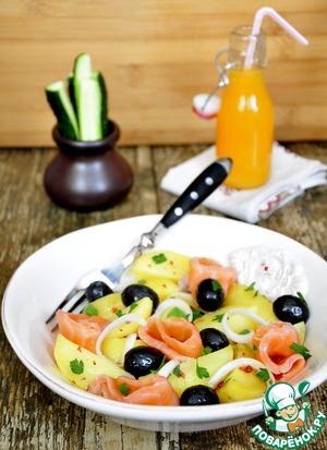 Рецепт Маринованный лосось и картофельный салат с ним