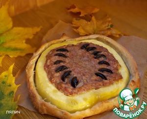Рецепт Пирог-тыква с мясной начинкой