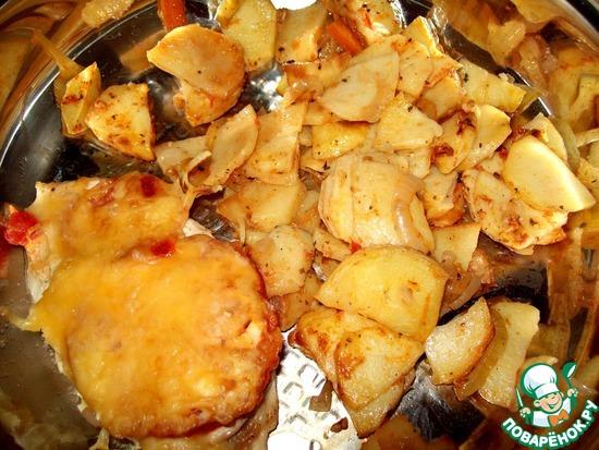 Треска в духовке пошагово с картофелем