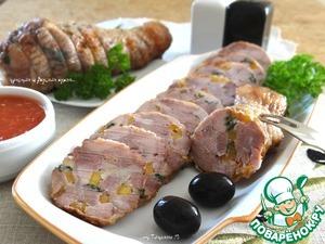 Рецепт Холодная закуска из фаршированной голени индейки