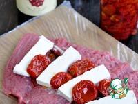 Запеченное мясо с брынзой и вялеными томатами ингредиенты