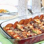 Запеченная курица с овощами со сливовым соусом