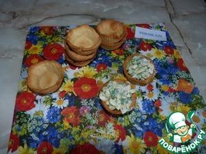 Рецепт Тарталетки с грибами и зеленью