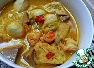 Рецепт Морепродукты, тофу и джекфрут в кокосовом соусе «Почти карри»