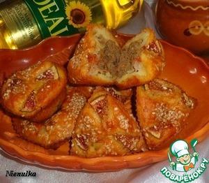 Рецепт Творожные маффины с тыквой и куриной печенью