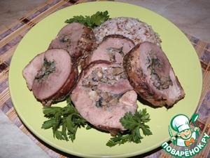Рецепт Мясной рулет с грибной начинкой