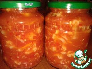 Рецепт Цветная капуста в соусе на зиму