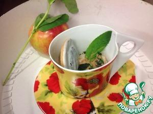 Рецепт Йогуртовый заварной крем с яблоком и мятой
