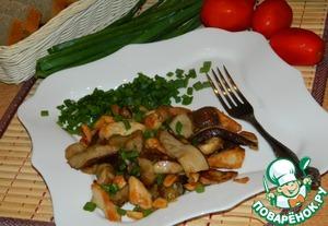 Рецепт Грибы с курицей и арахисом