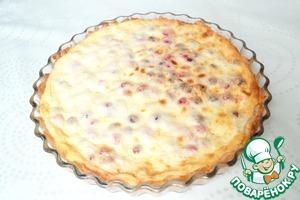 Рецепт Сырно-творожный пирог с сухофруктами