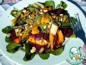 Рецепт Теплый салат со свеклой и тыквой