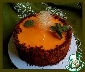 Рецепт Муссовый торт с тыквой, облепихой и мятой