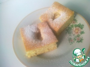 Рецепт Быстрый пирог без яиц
