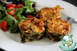 Рецепт Овощные маффины с грибами