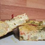 Омлет с цветной капустой и помидорами в мультиварке