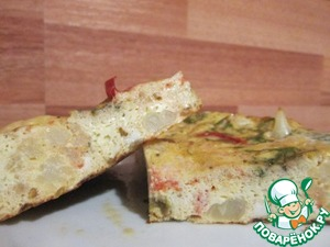 Рецепт Омлет с цветной капустой и помидорами в мультиварке