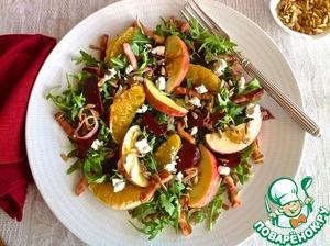 Рецепт Салат со свеклой, беконом и яблоком