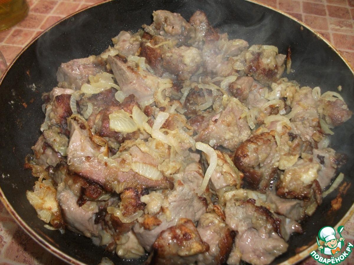 Жареный с луком свиной желудок рецепт пошагово