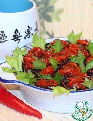 Рецепт Баклажаны со сладким перцем в карамели