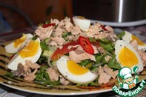 Рецепт Салат с горбушей и овощами