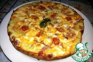 Рецепт Пицца на кефире в мультиварке