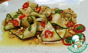 Рецепт Карпаччо-салат из цуккини (кабачков)