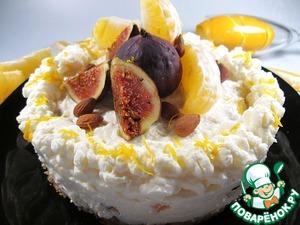 Рецепт Торт с адыгейским сыром, инжиром и апельсинами