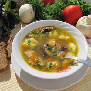 : Грибной постный суп