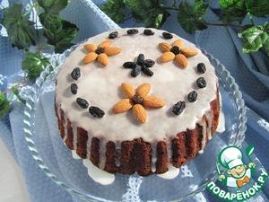 Рецепт Медовый пирог с яблоком и миндалем