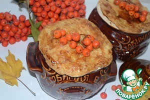 Рецепт Горшочки с рябиновым соусом под хрустящей корочкой