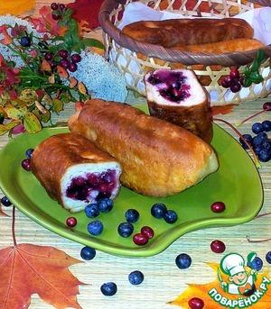 Рецепт Жареные пирожки с черникой и брусникой