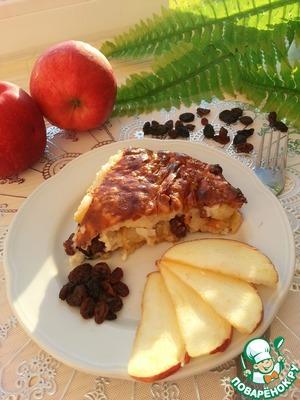 Рецепт Запеканка из творога с рисом и яблоком