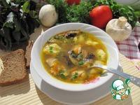 Суп гречневый с грибами и картофельными клецками ингредиенты