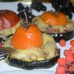 Цуккини с рыбным фаршем и помидорами