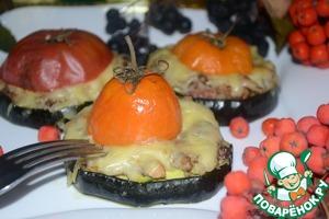 Рецепт Цуккини с рыбным фаршем и помидорами