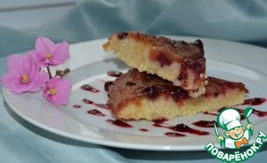Рецепт Рассыпчатый пирог с грушей и клюквой