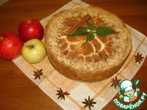 Рецепт Ванильный сметанник с яблоками и корицей