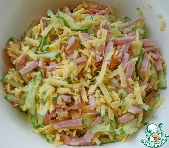 салат нежность рецепт с ветчиной и помидорами