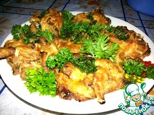 Рецепт Свинина с лисичками под сырной корочкой