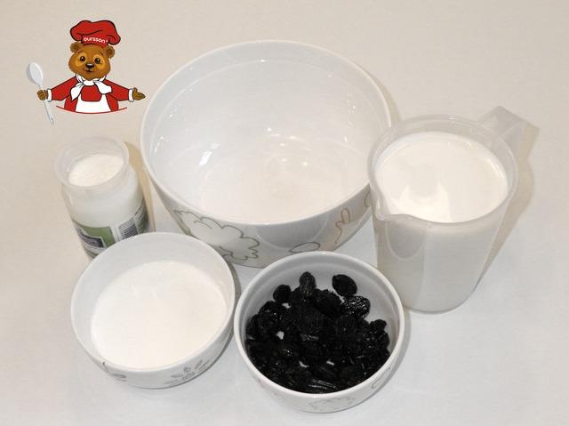 Сливочный йогурт с вишней пошаговый рецепт с фото #1