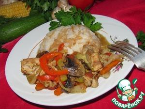 Рецепт Соте с курицей и грибами ( турецкая кухня)
