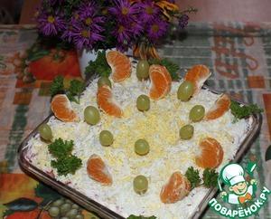 "Рецепт Салат ""Праздничный салют"""
