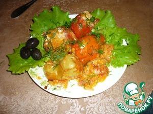 Рецепт Фаршированные перцы и помидоры
