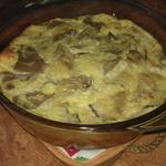 Воздушный омлет с грибами и сыром в духовке