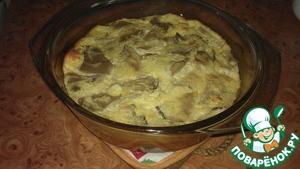 Рецепт Воздушный омлет с грибами и сыром в духовке