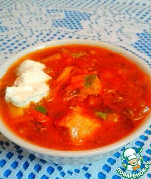 Ukrainian borsch from an aunt of nyusi
