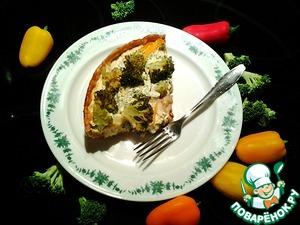 Рецепт Киш с треской и брокколи