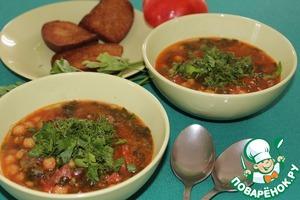 """Рецепт Суп из турецкого гороха с испанской колбасой """"чоризо"""""""