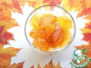 """Рецепт """"Янтарь"""" из яблок и винограда в микроволновке"""