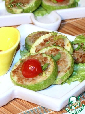 Рецепт Кабачок, фаршированный фаршем и рисом